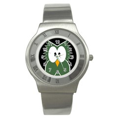 Green owl Stainless Steel Watch