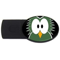Green owl USB Flash Drive Oval (4 GB)