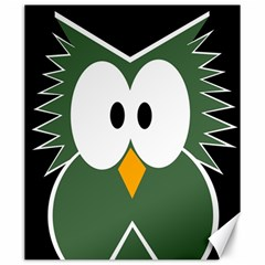 Green owl Canvas 20  x 24