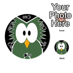 Green owl Playing Cards 54 (Round)
