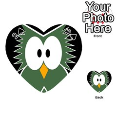 Green owl Playing Cards 54 (Heart)