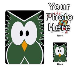 Green owl Multi-purpose Cards (Rectangle)