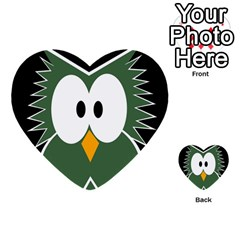Green owl Multi-purpose Cards (Heart)