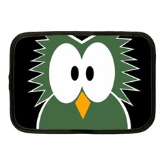 Green owl Netbook Case (Medium)