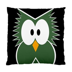 Green owl Standard Cushion Case (One Side)