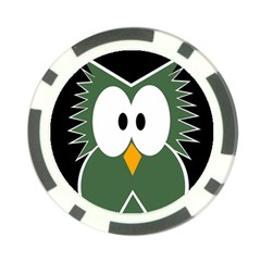 Green owl Poker Chip Card Guards (10 pack)