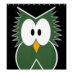 Green owl Shower Curtain 66  x 72  (Large)