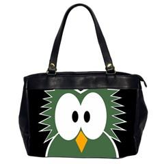 Green owl Office Handbags (2 Sides)