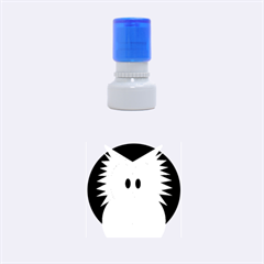 Green owl Rubber Round Stamps (Small)
