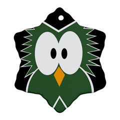 Green owl Snowflake Ornament (2-Side)