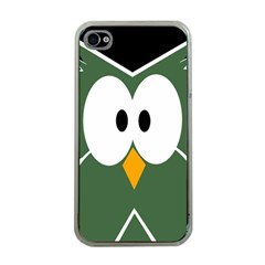 Green owl Apple iPhone 4 Case (Clear)