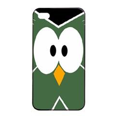 Green owl Apple iPhone 4/4s Seamless Case (Black)