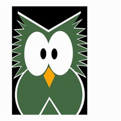 Green owl Small Garden Flag (Two Sides)