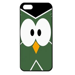 Green owl Apple iPhone 5 Seamless Case (Black)