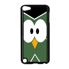 Green owl Apple iPod Touch 5 Case (Black)