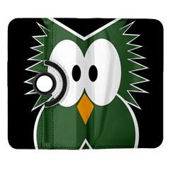 Green owl Samsung Galaxy Note II Flip 360 Case