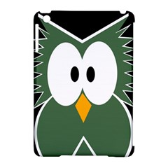 Green owl Apple iPad Mini Hardshell Case (Compatible with Smart Cover)