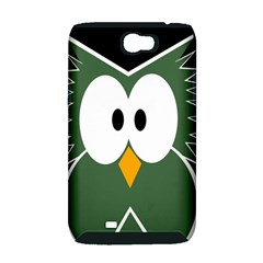 Green owl Samsung Galaxy Note 2 Hardshell Case (PC+Silicone)