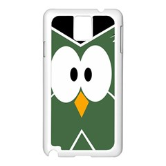 Green owl Samsung Galaxy Note 3 N9005 Case (White)