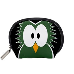 Green owl Accessory Pouches (Small)