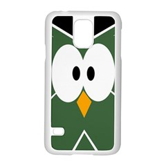 Green owl Samsung Galaxy S5 Case (White)
