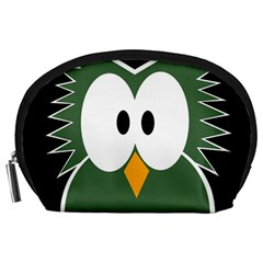Green owl Accessory Pouches (Large)