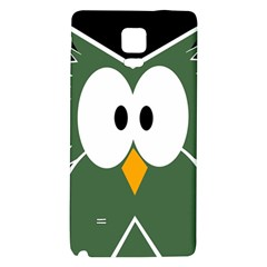 Green owl Galaxy Note 4 Back Case