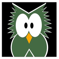 Green owl Large Satin Scarf (Square)