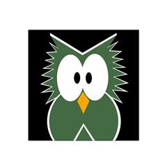 Green owl Satin Bandana Scarf