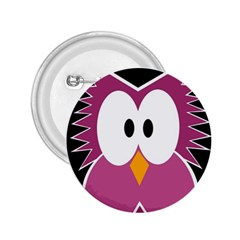 Pink owl 2.25  Buttons