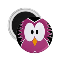 Pink owl 2.25  Magnets