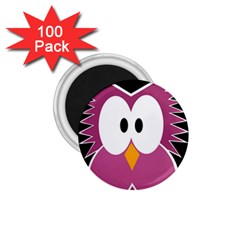 Pink owl 1.75  Magnets (100 pack)