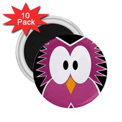 Pink owl 2.25  Magnets (10 pack)