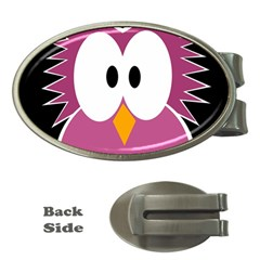 Pink Owl Money Clips (oval)