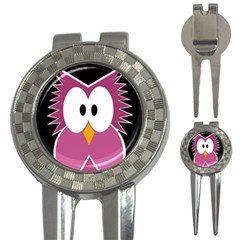 Pink owl 3-in-1 Golf Divots
