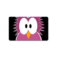 Pink owl Magnet (Name Card)