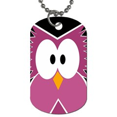 Pink owl Dog Tag (Two Sides)