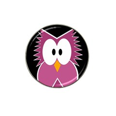 Pink owl Hat Clip Ball Marker (4 pack)