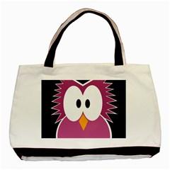 Pink owl Basic Tote Bag
