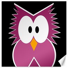 Pink owl Canvas 12  x 12