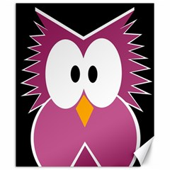 Pink owl Canvas 20  x 24