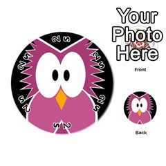 Pink owl Playing Cards 54 (Round)