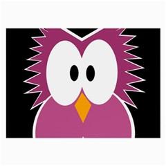 Pink owl Large Glasses Cloth (2-Side)