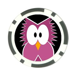 Pink owl Poker Chip Card Guards