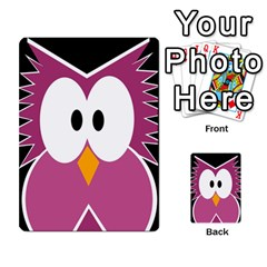 Pink owl Multi-purpose Cards (Rectangle)