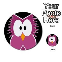 Pink owl Multi-purpose Cards (Round)