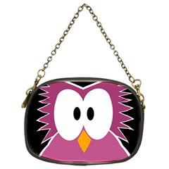 Pink owl Chain Purses (Two Sides)