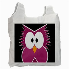 Pink owl Recycle Bag (Two Side)