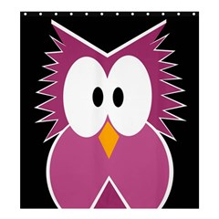 Pink owl Shower Curtain 66  x 72  (Large)