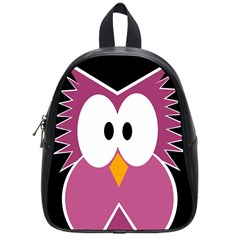 Pink owl School Bags (Small)